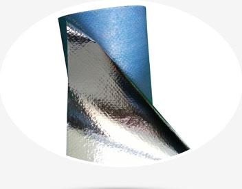 Aluminum film non woven fabric