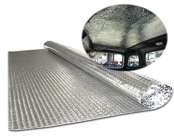 Bubble insulation for camper van insulation