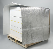 Bubble foil pallet cover